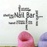 wandaufkleber gras Nagellack Handcreme Schellack Buff für Beauty-Salon Friseur