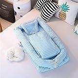 Lvbeis Baby Nestchen Tragbar Quilt/Kopfkissen Abnehmbar Babybett,Blau