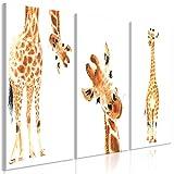 murando - Bilder Giraffe 120x60 cm Vlies Leinwandbild 3 Teilig Kunstdruck modern Wandbilder XXL Wanddekoration Design Wand Bild - Tier weiß g-B-0079-b-e