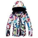 Sakuldes Ski Jacke Snowboard Wasserdichte Winddichte Schneejacke für Damen (Color : A04, Size : S)