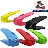 RiWEXA Plastic Shoe Organizer (Multicolour, 6.1735427359e+011)-Pack of 6 - (Color May Vary)