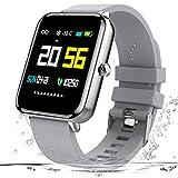 Zagzog Smartwatch, IP68 Wasserdicht Fitness Uhr 1,54 Zoll Voller Touch Screen Fitness Armband Sport Fitness Tracker mit Schlaftracker Schrittzähler für Herren Damen Smart Watch für iPhone/Android