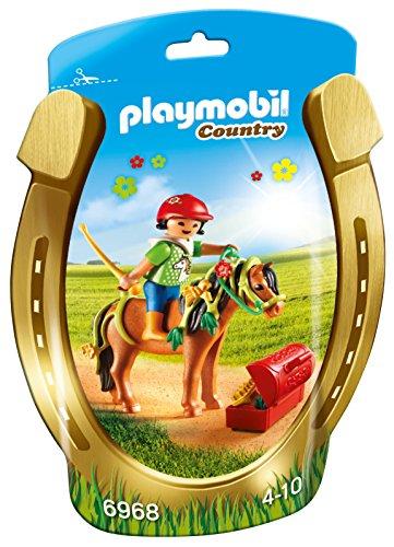 Playmobil Granja de Ponis - Jinete con Poni Flor (6968)