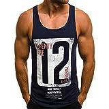 B-commerce Mode Sommer Ärmellose Tops männer Beiläufige Dünne Brief Gedruckt Crop Tank Top Bluse Gym Laufen T-Shirt