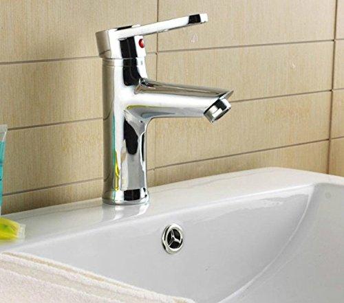 Furesnts casa moderna cucina e il lavandino del bagno rubinetti di rame di spessore a caldo e a freddo tocca Basin lavelli rubinetti per lavarsi le mani e il viso il lavabo,(Standard G 1/2 tubo flessibile universale porte)