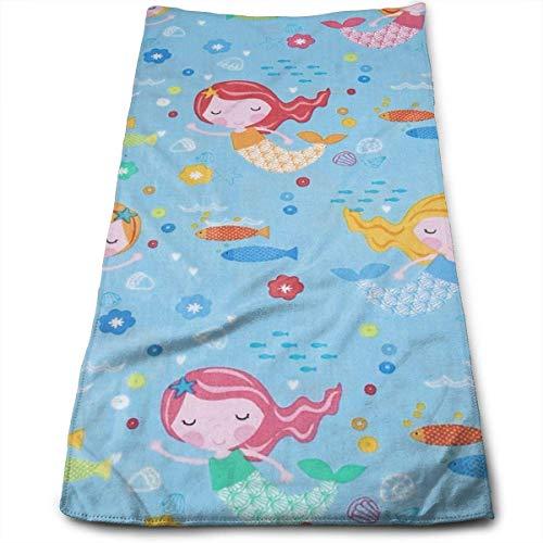 ewtretr Asciugamani Viso-Mani, Under The Sea Mermaids Sky Soft Cotton Large Hand Towel- Multipurpose Bathroom Towels for Hand, Face, Gym And Spa