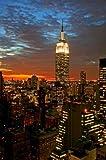 Paragon Square–Empire State Building in New York von Gary–Bild Foto auf Alu Dibond–Größe 40cm x 60cm–System von Haltevorrichtungen von Schienen Aluminium–Referenz 300147dbl3r-40