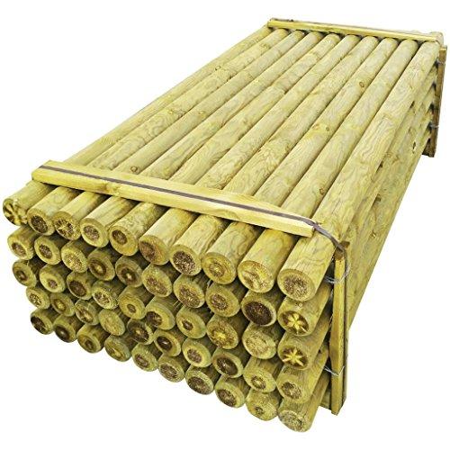 *Festnight 100 Stücke Angespitzter Holz Zaunpfahl Zaunpfosten aus Kiefernholz Spitz Holzpfosten 10 x 240 cm*