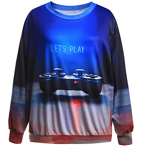 THENICE Femme Hip-Hop Sweat-shirts Gamepad