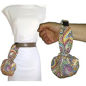 CACHEMIR Handtasche, kann auf den Gürtel aufgehängt werden. Ideal für einen Spaziergang, zum Tanzen etc. Sehr bequem leicht zu öffnen und zu schließen. Patentiert. Waschbar