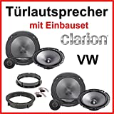 Clarion - Altavoces para VW Golf 4 (incluye set de montaje)