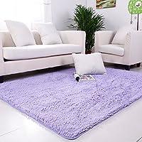 qwer Super convenienti! Tappeto multifunzione Lounge tavolino tappeti camera da letto letto e assorbimento di acqua e antiscivolo ,120*160 cm, neve-ching
