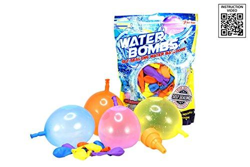 Toi-Toys 65080 Wasserballons, 100 Wasseballons z mit Wasserhahn Kappe