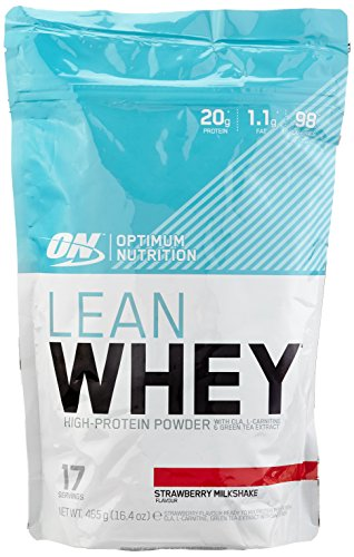 Optimum Nutrition Lean Whey Strawberry, 1er Pack (1 x 465 g)
