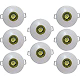 Bene Glow M.Steel Round Ceiling Light, (Yellow, 3w, Pack Of 8 Pcs)