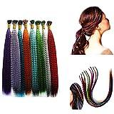 Butterme 100PCS synthétique arc long plumes extensions de cheveux 16 '50 perles gratuitement