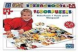 Bodenpuzzle 72x52 cm, 24 Teile, ab 3 Jahre, Puzzle für Kinder mit Kuscheltieren und Spielzeug als Motiv, Denksport, Legepuzzle, Tiere, Eisenbahn, fördert Ausdauer und Kreativität, regt Phantasie an, Maxi Floorpuzzle, Fußbodenpuzzle, Kinderpuzzle, Riesenpuzzle
