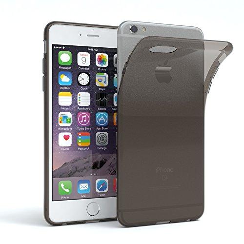 EAZY CASE Hülle für Apple iPhone 6 / 6S Schutzhülle Silikon, Ultra dünn Slimcover, Handyhülle, Silikonhülle, Backcover, Transparent/Durchsichtig, Anthrazit