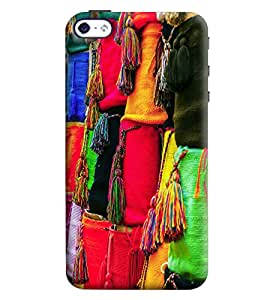 Blue Throat Bag With Dhori Printed Designer Back Cover/Case For Apple iPhone 4