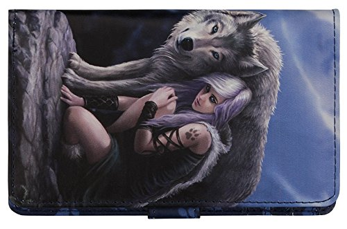 Protector - Girl With Wolf Portefeuille Bleu - Fantaisie - Nemesis Now