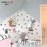 RUIPENGPENG Wall Sticker Aufkleber wasserdicht Abnehmbare für Wohnzimmer Kinder Baby Nursery der Nordischen ins Dreieck 3D Acryl solide Quartale, die Wände sind mit dunklem Braun, mittelgroß dekoriert