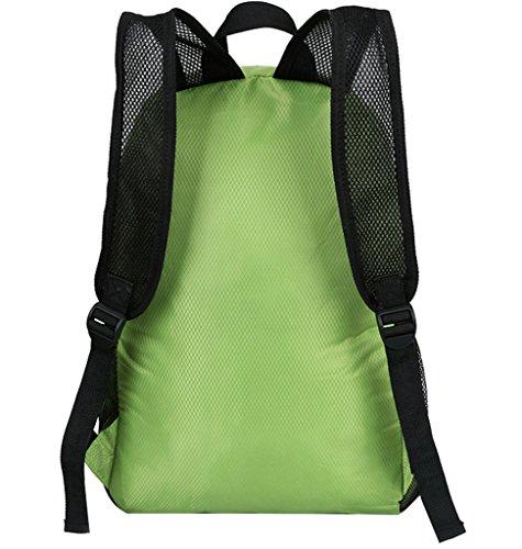 Super Modern Unisex Nylon Sport Rucksack Schule Tasche faltbar Rucksack Wasserdicht Wandern Rucksack Cool Leichte Laptop-Tasche iPad Rucksack Grün