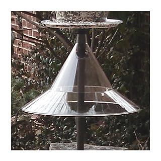Arundale Pole Mounted Bird Feeder Squirrel Baffle-Clear AR154 by Arundale