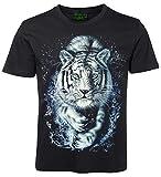 Tiermotiv T-Shirt Weißer Tiger Größe L