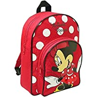 Trade Mark Collections Disney Minnie Mouse Back Pack With front Pocket (Red)