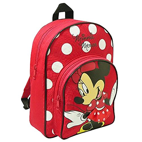Image of Trade Mark Collections Disney Minnie Mouse Back Pack With front Pocket (Red)