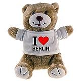Kuscheltier Bär Classic I Love Berlin beige