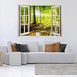 Decomonkey: Optische Täuschung/ Weitblick 3D Fensterblick ca 140x100 cm Wandbild Fototapete Tapete Poster XXL3D Vlies Leinwand Panorama Bilder DekorationTOC0010aM
