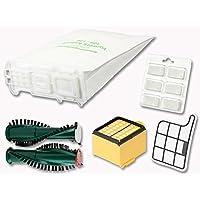 6 Vlies Filtertüten geeignet für Vorwerk Kobold 135 136 Duft Filter Rollen