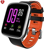 Willful smartwatch con Pulsómetro,Impermeable IP68 Reloj inteligente,Fitness Tracker con...
