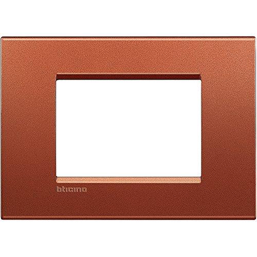 BTicino Living Light LNA4803RK Placca Quadra 3P, Brick