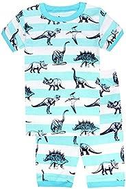 Babyfashion Pigiama Pantaloncini 2 Pezzi di Dinosauro Eccetera Sia Par Bambino Sia per Ragazzo Sono 100% di Co