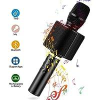 Micrófono Karaoke Bluetooth, Mbuynow TWS Micrófono Inalámbrico con Altavoz Incorporado para Cantar Función de Eco