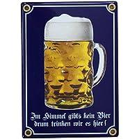 pin up Girl fun Spruch Bar Kneipe Pub Blechschild 20x30 Wer Bier trinkt...