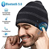 HANPURE Bluetooth Mütze Damen & Herren Geschenke, Bluetooth 5.0 Kopfhörer Mütze, Männer & Frauen Bluetooth Beanie Mütze, Musik Mütze für Skifahren, Laufen, Skaten, Unisex