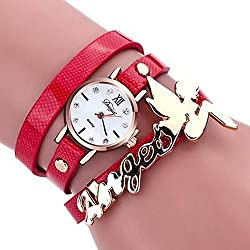 SSITG Women's Watch Leather and Crystal Bracelet Watch Quartz Analog Watch Gift Gift