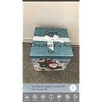 tigerlilyprints Christmas Eve Box, Personalised Christmas Eve Box, 1st Christmas Keepsake Box, Santa Sleigh
