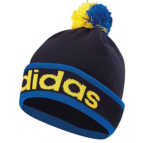 Adidas Golf 2015Da uomo ClimaHeat POM BEANIE Inverno Wooly Cappello, Uomo, Unisex Bright Royal, Bright Royal/Night Indigo, Taglia unica
