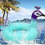 Lucky H??Flotteur de Piscine Gonflable 18' Paon à l'intérieur de la Piscine Flotteur chaises Plaisir de la fête de la Plage Jouets pour Enfants Adultes,Géant Jouets Gonflable Flotteur de Plage Ocean
