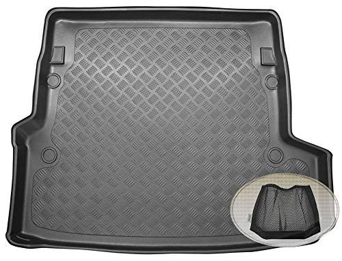 ZentimeX Z3329733 Geriffelte Kofferraumwanne fahrzeugspezifisch + Klett-Organizer (Laderaumwanne, Kofferraummatte)