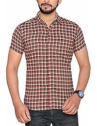PP Shirts Men Multicoloured Casual Checkered Shirt (PP1217110)