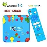 4G 128G Android TV Box HDR 6K, H96 Mini H6 Android 9.0 Smart TV Box Quad Core 4G DDR3 128G EMMC ROM Set Top Box Soporte 4K 6K 3D H.265 Dual WiFi 2.4G / 5G