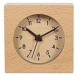 Legno massello sveglia mute originalità Hotel orologio semplice,colore di registro