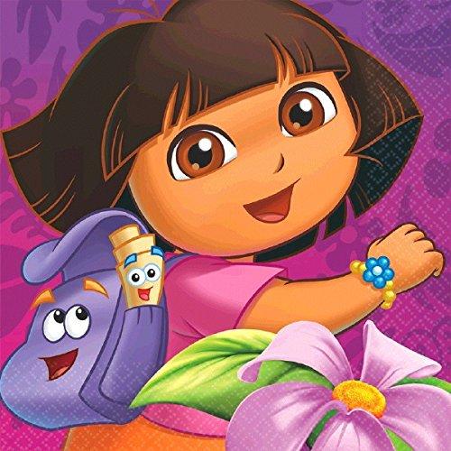 ora The Explorer Lunch Napkins Party Supplies (16 Count) by Dora the Explorer (Dora Party Supplies)