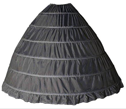 Bridal_Mall - Jupe spécial grossesse - Jupon - Femme Blanc blanc Taille Unique Noir