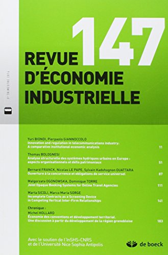 Revue d'economie industrielle : N° 147, 2014/3